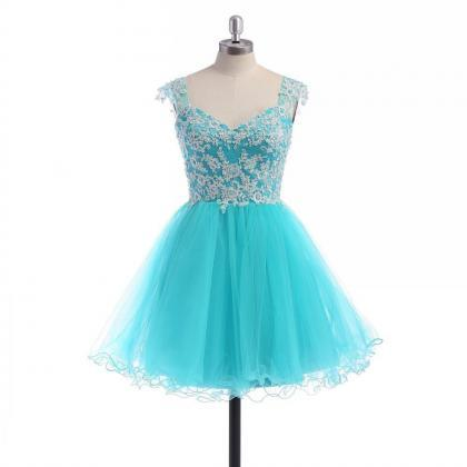 Tulle Homecoming Dress,Lace Homecom..