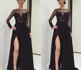 Black Prom Dresses,Lace Evening Dress,Sexy Prom Dress,Prom Dresses ...