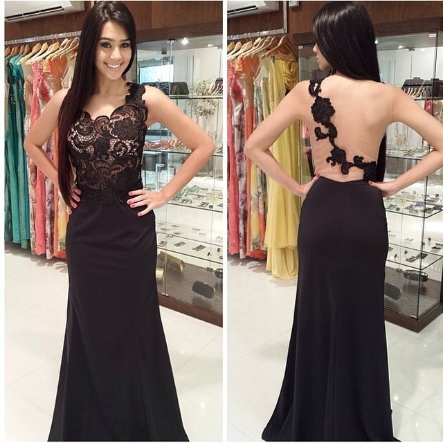 One Shoulder Prom Dresses,Lace Evening Dress,Chiffon Prom Dress ...