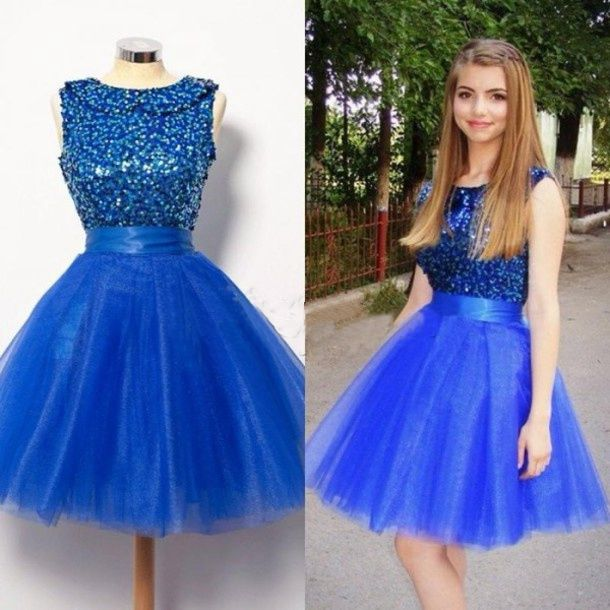 Royal Blue Homecoming Dress,Short Prom Dresses,Tulle Homecoming ...