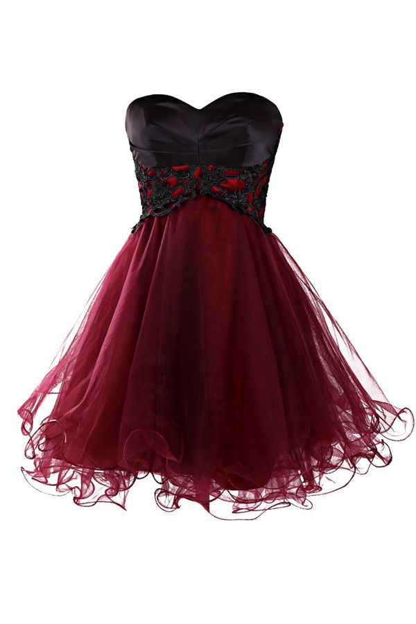 Tulle Homecoming Dress,Lace Homecoming Dress,Cute Homecoming Dress ...