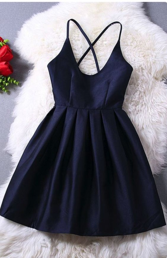Elegant Navy Blue Homecoming Dress Short Prom Dress Sweet 16 Gowns Modest Evening Gowns For Teens Girls