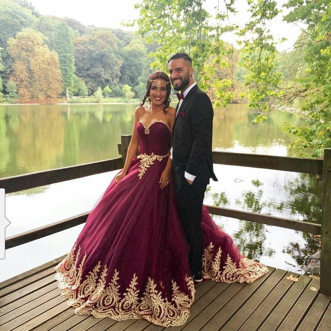 new arrival prom dress modest prom dress burgundy wedding dress wine red ball gowns gold lace bridal burgundy wedding dresses New Arrival Prom Dress Modest Prom Dress burgundy wedding dress wine red ball gowns gold lace bridal dress elegant wedding dress