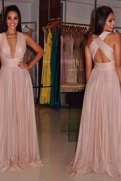 Pink Prom Dresses,Pink Evening Gowns,Simple Formal Dresses,Prom Dresses,Teens Fashion Evening Gown,Pink Party Dress,Chiffon Prom Gowns