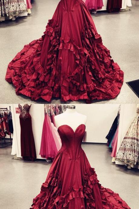 sweetheart bodice corset ruffles prom dresses ball gowns 2018