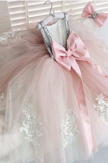 Flower girl Dress,Flower girl Dress Dresses,Cute Flower girl Gowns, P1545