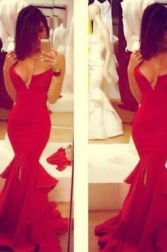 Sexy Prom Dresses,Red Prom Dress,Evening Gown,Long Formal Dress,Sexy Prom Gowns,Night Club Dresses,Prom Dress