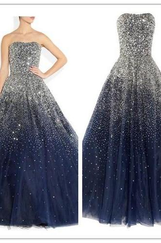 Navy Blue Prom Dresses,Ball Gown Prom Dress,Tulle Prom Dress,Simple Prom Dress,Tulle Prom Dress,Simple Evening Gowns,Cheap Party Dress,Elegant Prom Dresses,2016 Formal Gowns For Teens