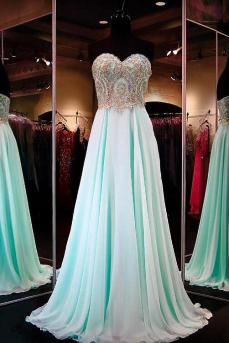 Chiffon Prom Dresses,Evening Dress,Sweetheart Prom Dress,Sequined Prom Dress,Sequins Prom Gown,Sexy Prom Dress,Long Prom Gown,Modest Evening Gowns for Teens