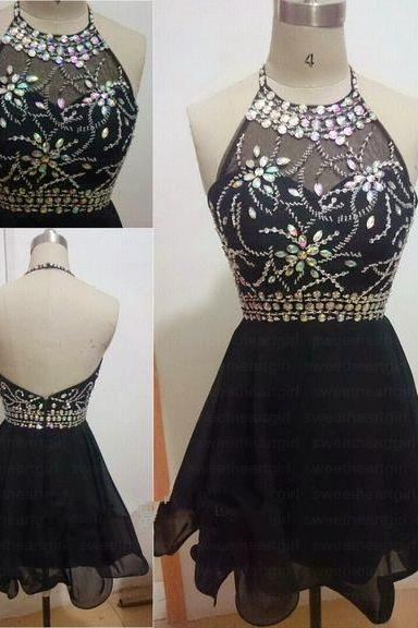 Homecoming Dress,Homecoming Dress,Cute Homecoming Dress,Lace Homecoming Dress,Short Prom Dress,Black Homecoming Gowns,Beaded Sweet 16 Dress