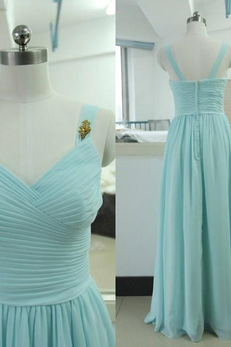 Light Sky Blue Prom Dresses,Chiffon Prom Gowns,Prom Dresses,2016 Party Dresses,Long Prom Gown,Princess Prom Dress,Evening Gowns,Prom Gowns,Sexy Evening Gowns