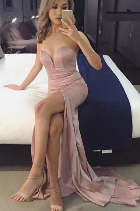 Prom Gown,Pink Prom Dresses,Evening Gowns,Mermaid Formal Dresses,Pink Prom Dresses 2016,Evening Gown,Sexy Prom Gown