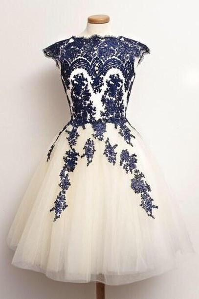 Lace Homecoming Dress,Tulle Homecoming Dress,Navy Blue Homecoming Dress,Lace Homecoming Dress,Short Prom Dress,Country Homecoming Gowns,Sweet 16 Dress,Simple Homecoming Dress,Casual Parties Gowns