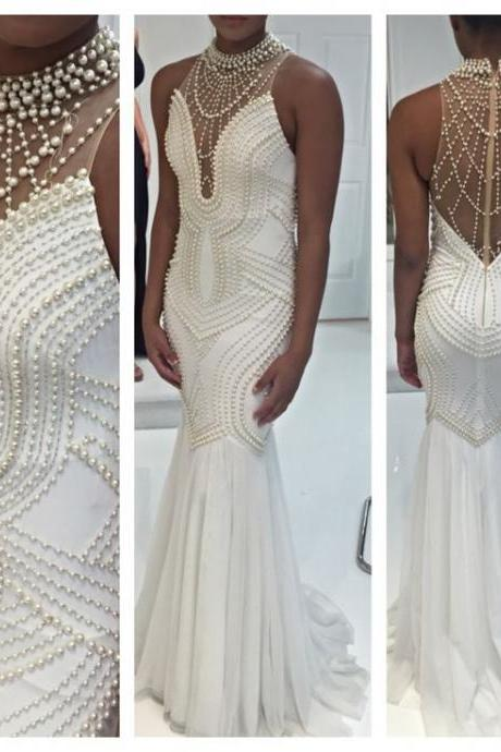 Sexy Prom Dresses,Evening Dresses,New Fashion Prom Gowns,Elegant Prom Dress,Princess Prom Dresses,Evening Gowns,White Formal Dress,White Evening Gown