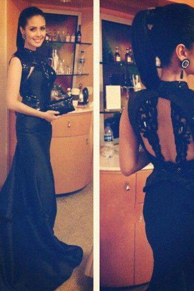 Black Prom Dress,Mermaid Prom Dress,Lace Prom Gown,Backless Prom Dresses,Sexy Evening Gowns,Evening Gown