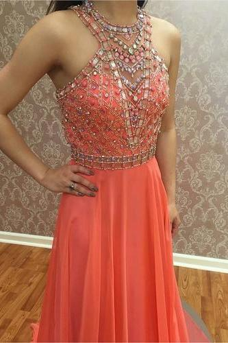 Charming Prom Dress,Long Prom Dress,Evening Dress,Pretty Prom Dress,Beading Evening Gown