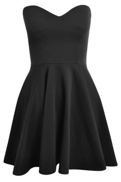 Black Sweetheart Short Homecoming Party Dress