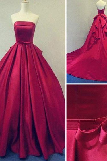 Red Prom Dress,Ball Gown Prom Dress,Prom Gown,Princess Prom Dresses,Sexy Evening Gowns,New Fashion Evening Gown,Red Party Dress For Teens