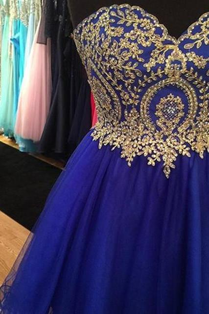 royal blue homecoming dresses,short prom dresses 2017,cocktail dresses,lace appliques homecoming dresses
