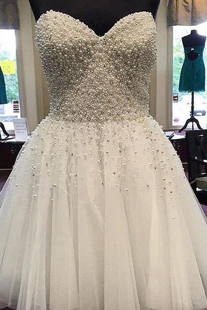 Pearl Beaded White Homecoming Dress Short Prom Gowns 2017 Cocktail Party Dress