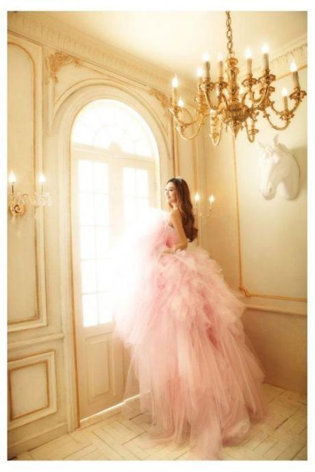 Pink Prom Dresses,Ball Gown Prom Dress,Prom Gown,Pink Prom Gown,Elegant Evening Dress,Evening Gowns,Party Gowns