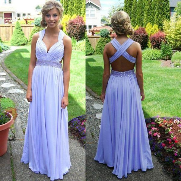 Blue Prom Dresses,Chiffon Prom Gowns,Sparkle Prom Dresses,Long ...