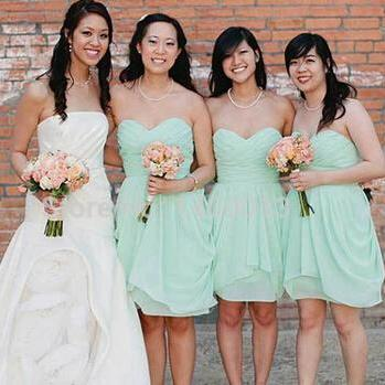 Mint Green Bridesmaid DressesKnee