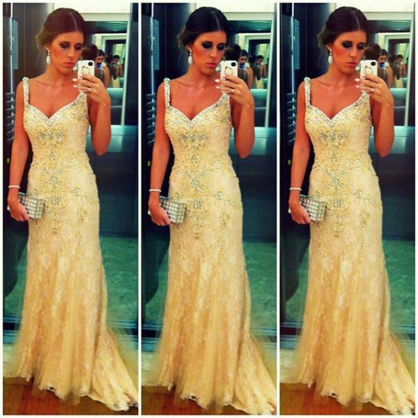 Yellow Prom Dresses,Charming Evening Dress,Yellow Prom Gowns,Lace Prom Dresses,2016 New Prom Gowns,Yellow Evening Gown,Backless Party Dresses