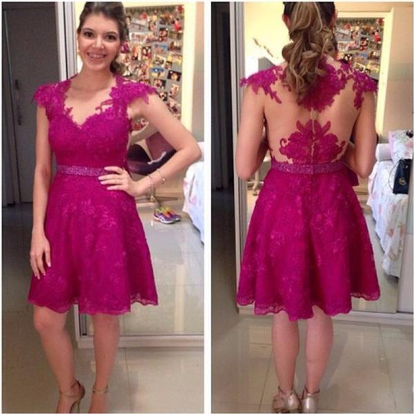 Homecoming Dresses,Lace Homecoming Dress,Homecoming Dress,Fitted Homecoming Dress,Short Prom Dress,Homecoming Gowns,Cute Sweet 16 Dress For Teens