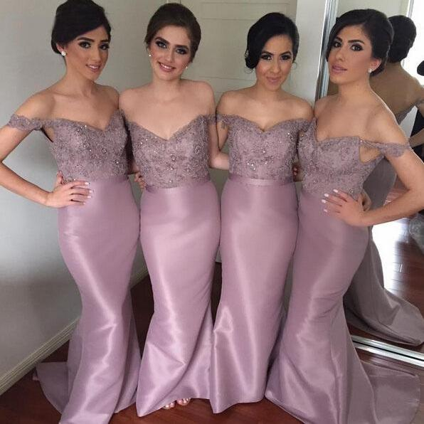 Lace Bridesmaid Dress,Long Bridesmaid Gown,Off the Shoulder Bridesmaid Gowns,Mermaid Bridesmaid Dresses,Bridesmaid Gowns,2016 Bridesmaid Dress,Vinatge Bridesmaid Gowns