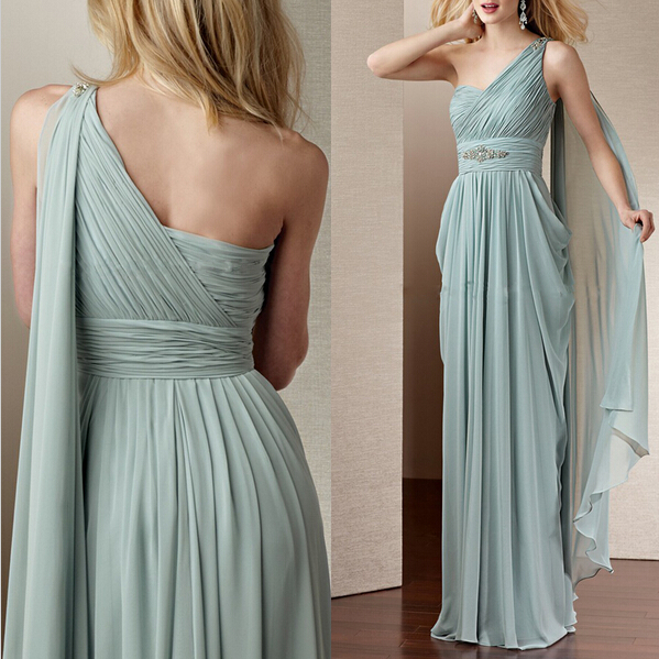 Prom Gown,One Shoulder Prom Dresses,One Shoulder Evening Gowns,Simple Formal Dresses,One Shoulder Prom Dresses 2016