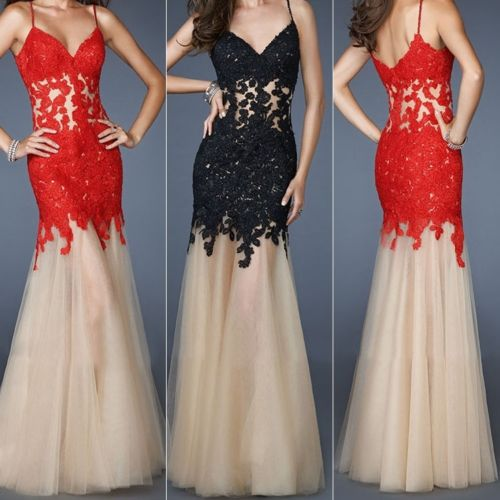 Red Prom Dresses,Prom Dress,Red Prom Gown,Lace Prom Gowns,Elegant Evening Dress,Modest Evening Gowns,Simple Party Gowns, Lace Prom Dress