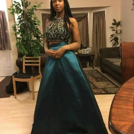 prom dresses,two piece prom dresses,Prom gowns,2 Piece Prom Dresses,2016 prom dress,2 Piece Prom Gown,New Style Prom Gown